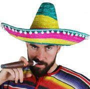 """Шапка тип """"Мексиканско сомбреро"""" (разноцветно)"""