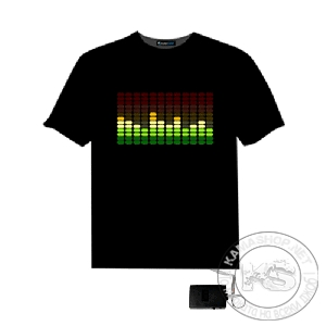Тениска - еквалайзер (черна, размер L)