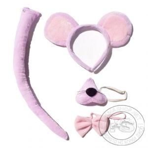 """Комплект """"Мишка"""" (диадема, нос, опашка, папионка)"""