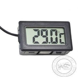 Дигитален термометър със сонда - за вграждане (черен)
