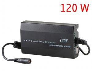 Универсално зарядно за лаптоп на 220V и 12V (изход 12-24V 120W)