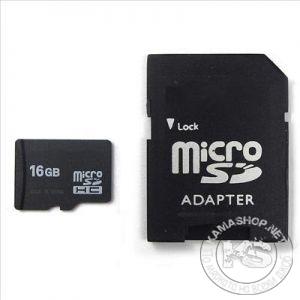 Карта памет micro SD SDHC TF Class 6 с преходник (16 GB)