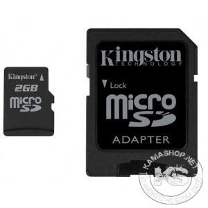 Карта памет Kingston micro SD SDHC TF Class 4 с преходник (2 GB)