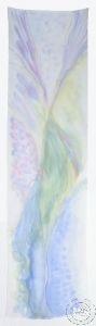 Шал от ръчно рисувана естествена коприна - модел #10 (40 х 150 см)