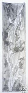 Шал от ръчно рисувана естествена коприна - модел #14 (44 х 162 см)
