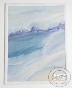 Картина от ръчно рисувана естествена коприна - модел #16 (32 х 42 см)