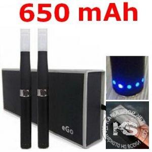 Луксозна електронна цигара eGo-D с диоден индикатор - 650mAh (2 бр в комплект)