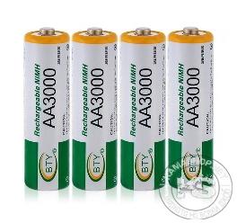 Акумулаторни батерии 3000mAh 1.2V размер АА (4бр в пакет)