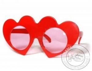 Парти очила - сърца (червени)