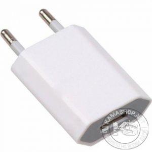 Зарядно на 220V с USB - компактно (изход 5V 1000mA)