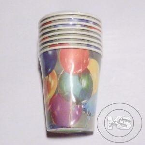 Парти чаши - 8бр в пакет (разноцветни)
