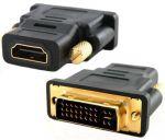 Преход-конвертор DL DVI-I мъжко -> HDMI женско (Gold plated)
