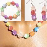 Комплект - Колие от разноцветни перли + Обеци и Гривна