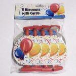 Парти надувалки - 8бр в пакет (разноцветни)