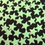 Фосфоресциращи звездички 30мм, 20бр - плоски (светлозелени)