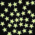 Фосфоресциращи звездички 35мм, 20бр - плоски (светлозелени)
