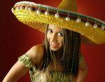 "Шапка тип ""Мексиканско сомбреро"" (жълто)"
