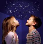Фосфоресциращи звездички-стикери с луни и НЛО (над 150 бр)