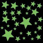 Фосфоресциращи звездички-стикери, различни размери (над 190 бр)