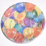 Парти чинии - 8бр в пакет (разноцветни)